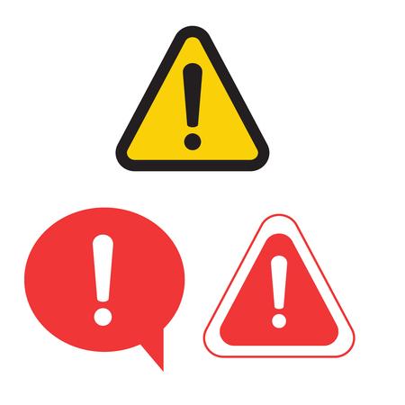 Illustration for Warning attention sign. Danger sign design. Caution error icon   - Royalty Free Image