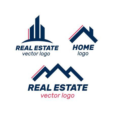 Illustration for Real Estate, Building and Construction Logo Vector Design. Logo real estate set - Royalty Free Image