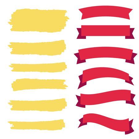 Illustration pour Retro vector banner ribbons and badges for sale. Banner ribbon vector set - image libre de droit