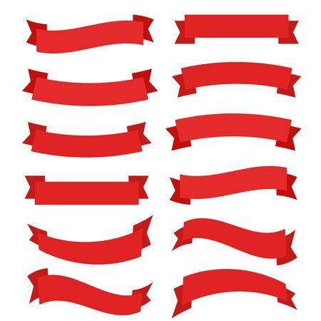 Illustration pour Ribbons banner great design. Ribbons banner graphic element vector. Ribbons banner background. - image libre de droit