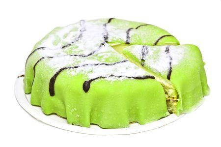 Traditional swedish marzipan princess cake