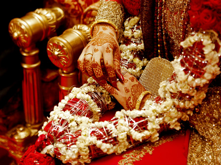 Photo for indian bride hands - Royalty Free Image
