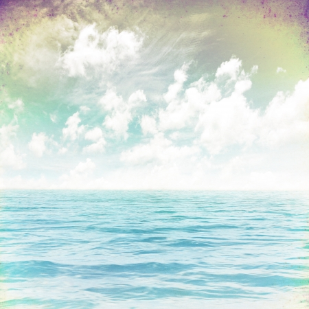 grunge image of sea for backgroundの写真素材