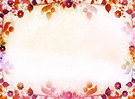 Autumn leaves frame background
