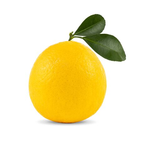 Ripe orange isolated on white background, with clipping paths.