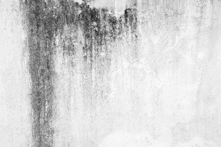 Foto de Old white walls texture with black stains. - Imagen libre de derechos