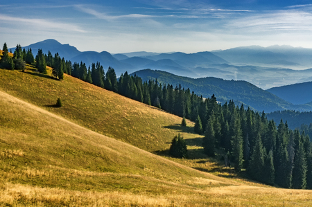 View of summer landscape Slovak from mountains Big Fatra