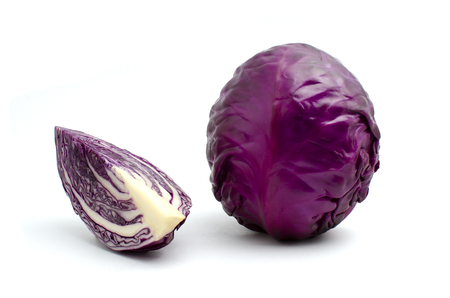 Photo for cabbage is vegetable organic food ingredients Can be used for cooking. - Royalty Free Image