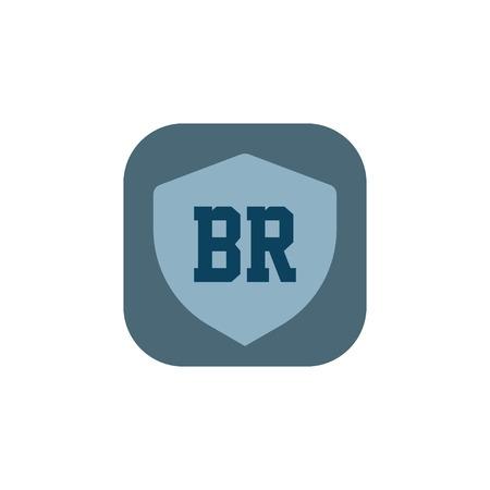 Initial Letter Logo BR Template Design
