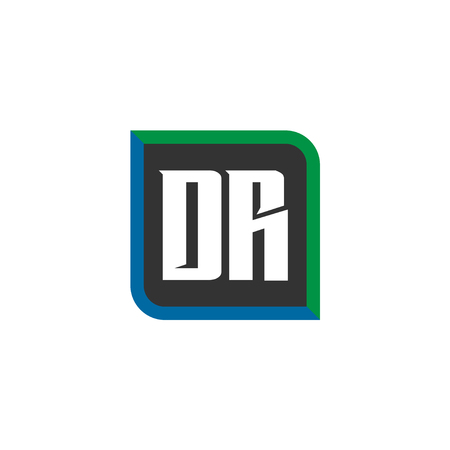Initial Letter Logo DR Template Vector Design