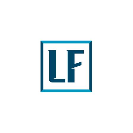 Initial Letter Logo LF Template Vector Design