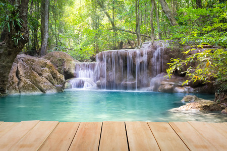 Erawan waterfall 5th level in Kanjanaburi province, Thailand.