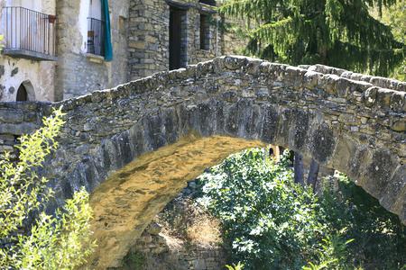 Bridge of stone sited in Monta? ? ana, Huesca