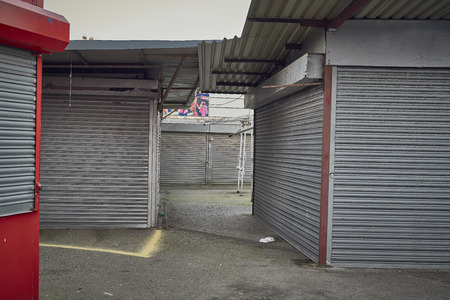Photo for Market shops closed - Royalty Free Image