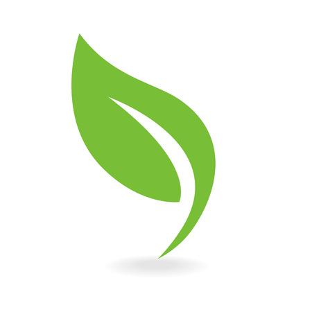 Ilustración de Eco icon green leaf vector illustration isolated - Imagen libre de derechos