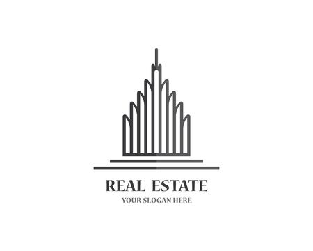 Illustration for Real estate logo icon illustration - Royalty Free Image