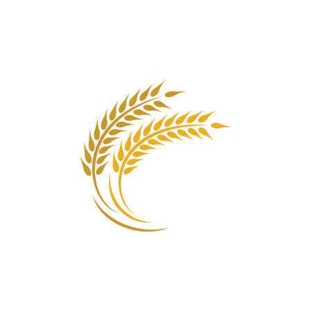 Illustration for Agriculture wheat logo template vector icon design - Royalty Free Image