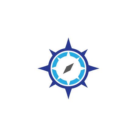 Illustration pour Compass logo template vector icon illustration - image libre de droit