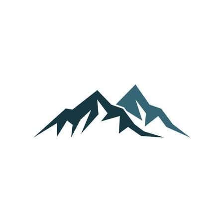 Illustration pour Mountain logo vector icon illustration design - image libre de droit