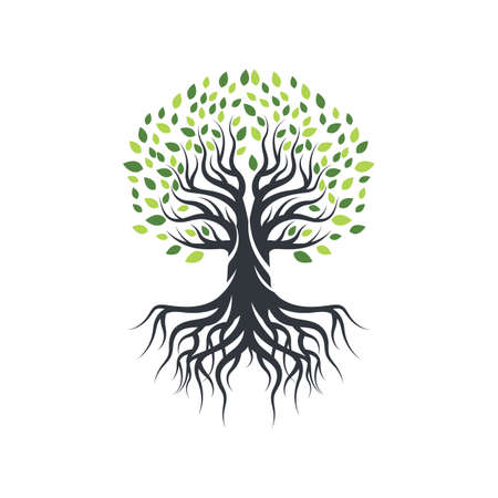 Illustration for Tree icon logo template vector icon design - Royalty Free Image
