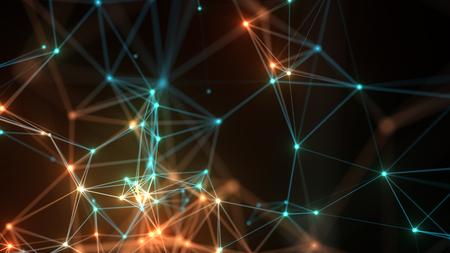 Photo pour Abstract  concept network, communication, social networking, connection. - image libre de droit