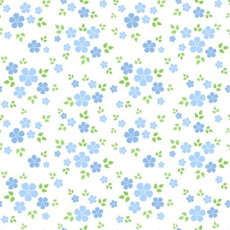 Illustration pour Seamless pattern with small blue flowers. Vector illustration. - image libre de droit