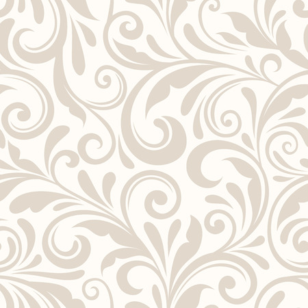 Illustration pour Vintage seamless beige floral pattern. Vector illustration. - image libre de droit