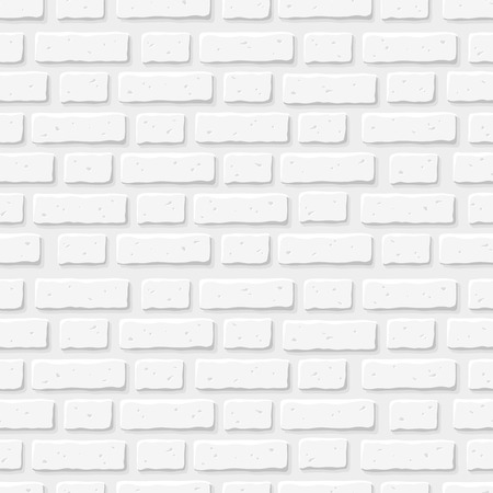 White brick wall. Vector seamless texture.