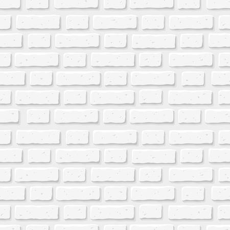 White brick wall. Vector seamless texture.