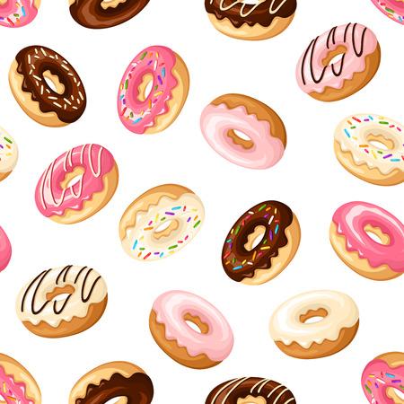 Foto de Seamless background with donuts. - Imagen libre de derechos
