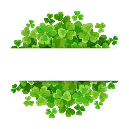 Illustration for St. Patrick's day vector background with green shamrock. - Royalty Free Image
