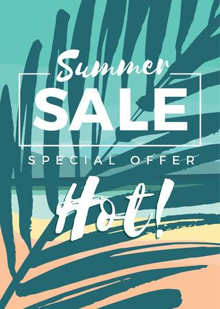 Illustration pour Summer sale design. Vector illustration. Design element - image libre de droit