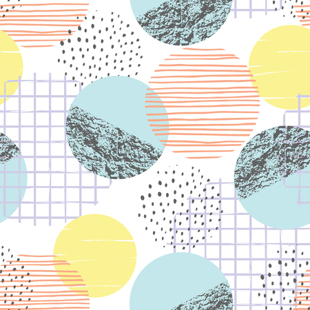 Ilustración de Abstract geometric seamless pattern with circles. - Imagen libre de derechos