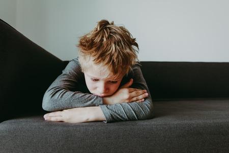 Photo pour sad stressed tired exhausted child - image libre de droit