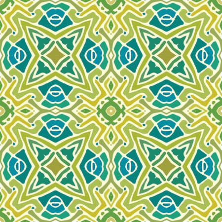 seamless pattern of colorful abstract mandala shapes