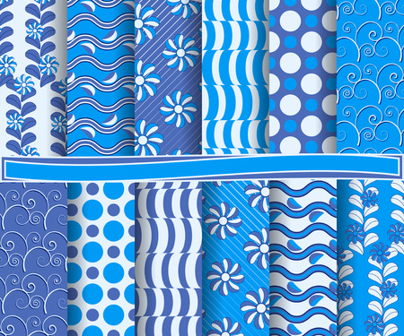 set of  abstract vector paper for scrapbook