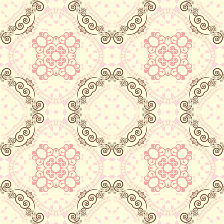 Seamless vector illustration background. Abstract shapes pattern