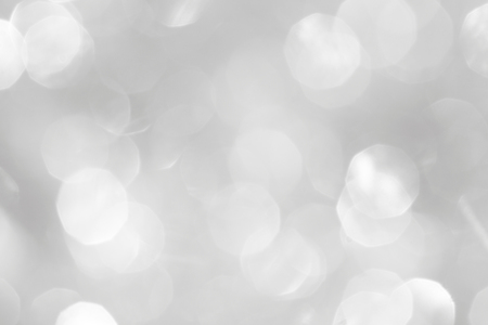 Photo for A brilliant white background with circles and ovals. Template for a holiday card with bright and sparkling lights. - Royalty Free Image
