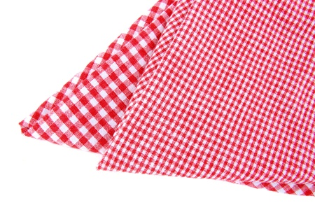 Checked tea towels isolated