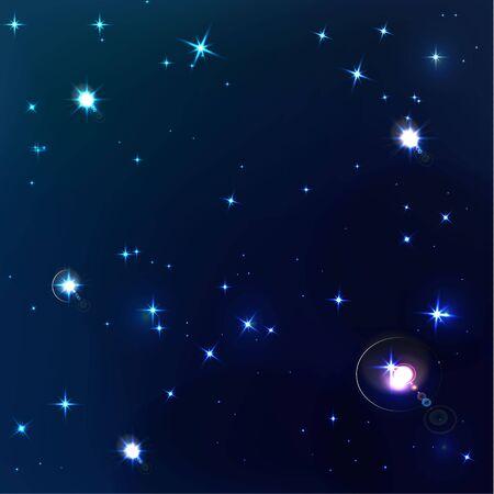 beautiful background of dark blue night sky