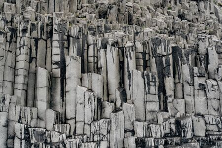 Photo for Closeup of texture of basalt stones on the beach of Vik, Iceland. - Royalty Free Image