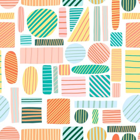 Illustration pour Vector abstract geometric background. Modern abstract textile design seamless pattern - image libre de droit