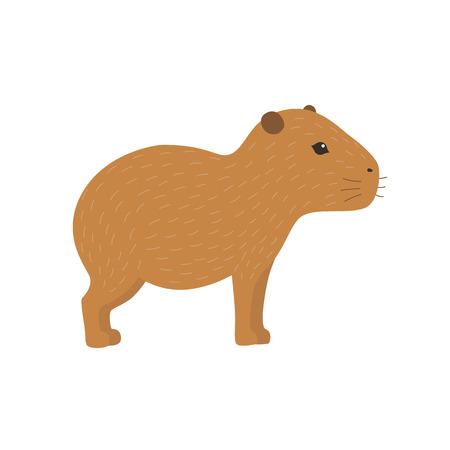 Illustration pour Capybara illustration - image libre de droit