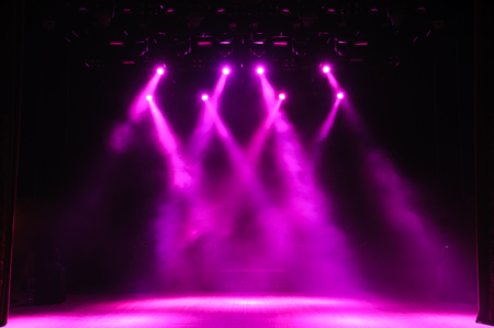Photo pour Free stage with lights, lighting devices. Background - image libre de droit