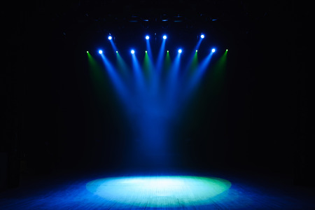 Photo for Free stage with lights, lighting devices. Background - Royalty Free Image