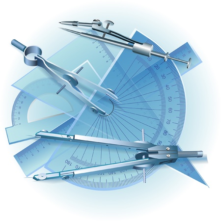 Set of Drawing Tools  Engineering symbol  clip-art