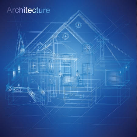 Photo for Urban Blueprint  vector -  Architectural background - Royalty Free Image