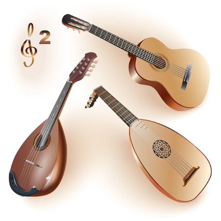Musical series - Set of musical instruments of the string family