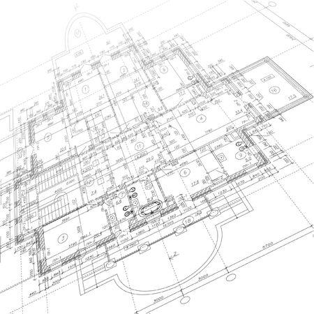 Photo pour Architectural background. Part of architectural project. Vector illustration - image libre de droit