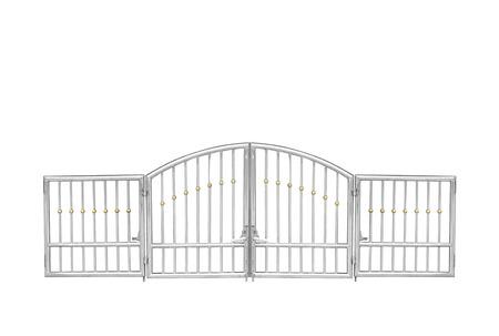 Photo pour Decorative steel door - image libre de droit
